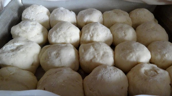 Let the rolls rise 30 minutes until doubled in size.  Gently remove rolls...