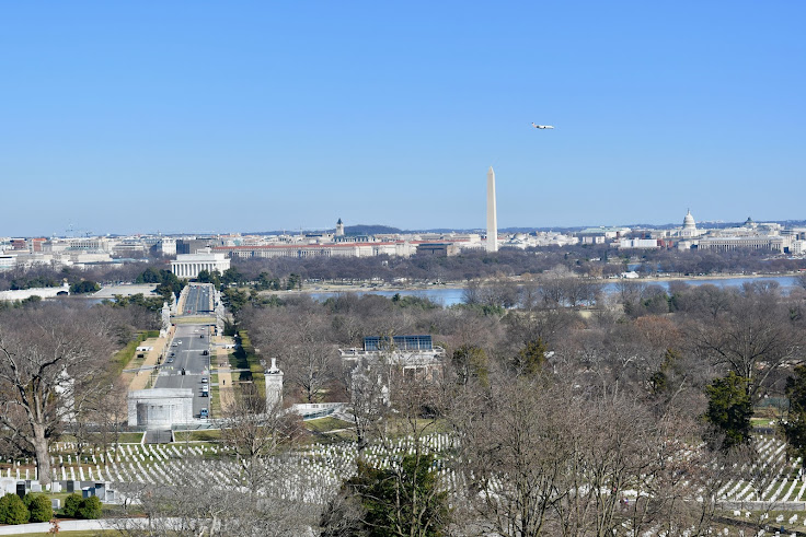 View of Washington, DC from the Arlington House gardens
