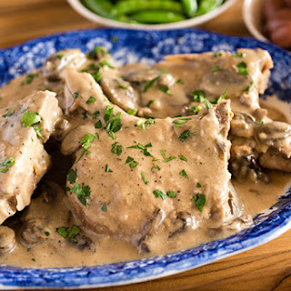 Slow Cooker Smothered Ranch Pork Chops.