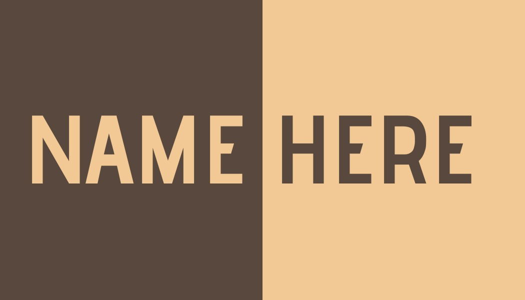 simple brown name tag template