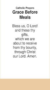 Catholic Prayers Grace Before Meals - náhled