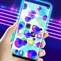 Neon Bubbles On Screen icon