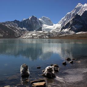 Gur-Dumber lake by Kaushik Dolui - Landscapes Mountains & Hills ( mountain )