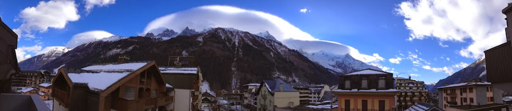 Photo: Mont Blanc Pano (from room at Morgane)