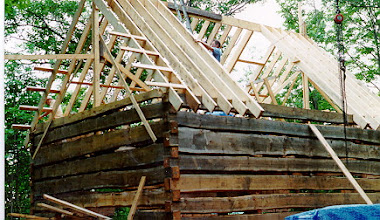 Photo: Framing the roof.