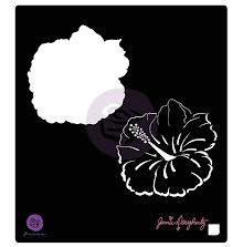 Prima Jamie Dougherty Bloom Stencil 6X6 - Hibiscus