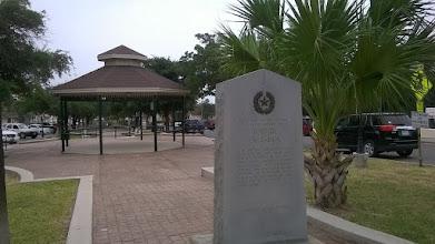 Photo: Escandon marker with gazebo - Rio Grande City