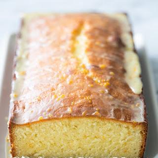 Almond Pound Cake with Orange Glaze