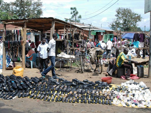 Traders at a section of Kibuye market./FILE