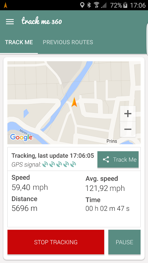 Track Me 360 - GPS tracker- screenshot