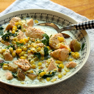 Salmon, Corn And Potato Chowder