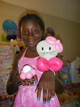 Photo: Hello kitty balloon character.Book Heidi by calling 888-750-7024
