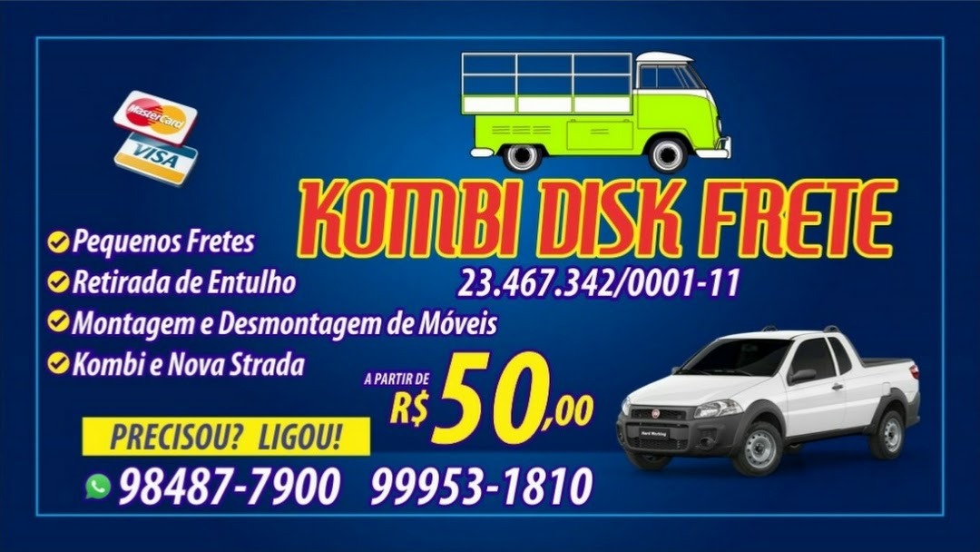 cc21644459 Fábio Fretes e Carretos Kombi Transportes De Pequenas Mudanças ...