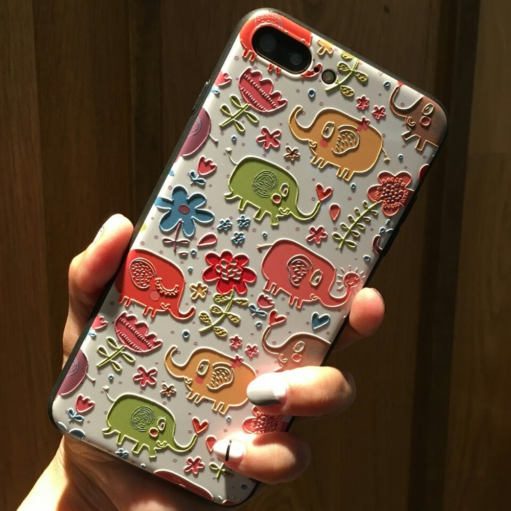 IPhone Case, Delicate Embossed Texture Hard PC Dual Layer