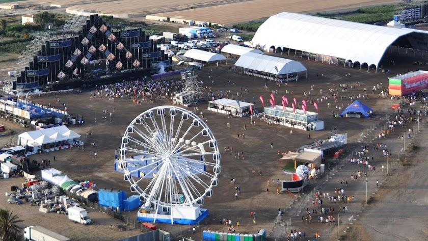 Toma aérea de una edición anterior del festival.
