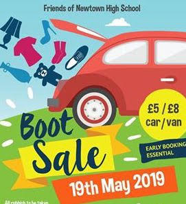Car boot sale at high school this weekend