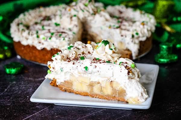 Slice Of Irish Banoffee Pie On A Plate.
