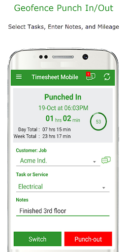 Employee Time Clock w/ GPS, Scheduling & Messaging  screenshots 1