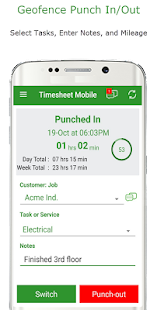 Employee Time Clock w/ GPS, Scheduling & Messaging - náhled