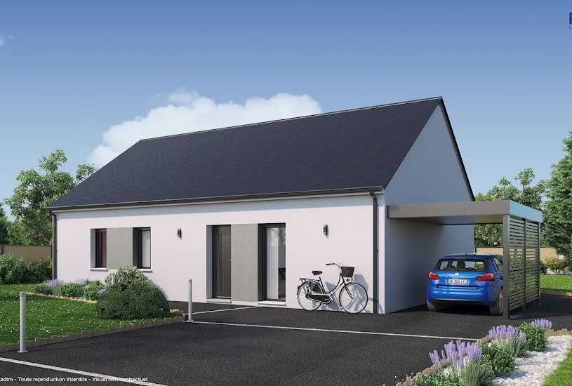 Vente Terrain + Maison - Terrain : 410m² - Maison : 90m² à Ambillou (37340)