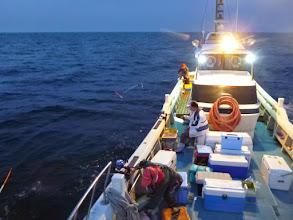 Photo: 本日は、天気に恵まれないメンバーがやっと出航できました! 今年が初釣りです!