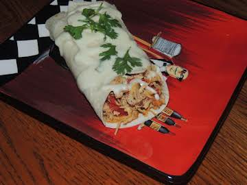OMG Shredded Soft Chicken Burritos