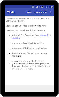 App Tamil Text Viewer - View Tamil document in Android APK