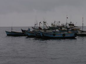 Photo: Fishing boats in Paracas Bay.