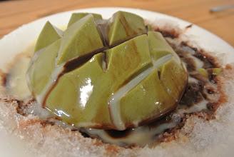 Photo: 抹茶豆腐+巧克力醬+煉乳 加冰