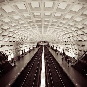 Metro Center Station, Washington DC by Tom Cordova - Buildings & Architecture Architectural Detail ( dc, washington, structure, train, station. subway )