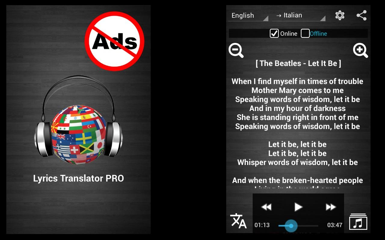 Lyrics Translator Pro Offline- screenshot