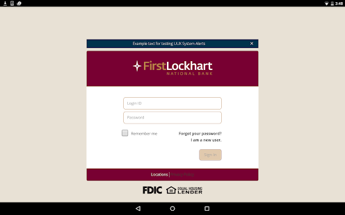 First Lockhart National Bank - screenshot thumbnail
