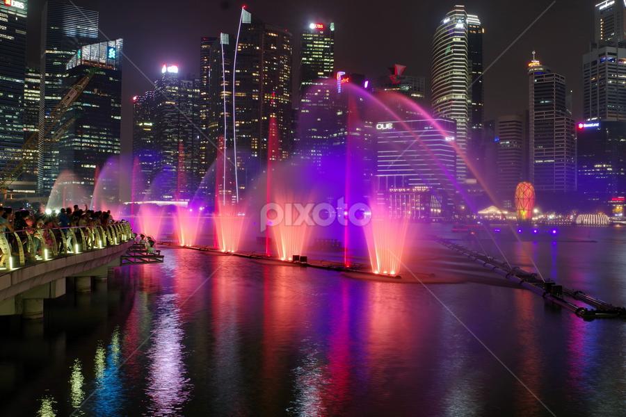 by Ken Goh - City,  Street & Park  Fountains