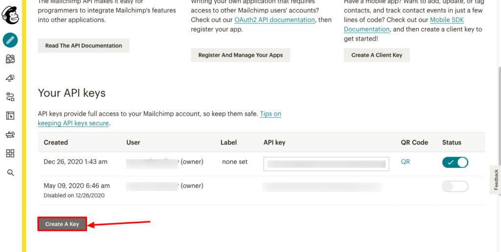 Mailchimp Integration - Create Api - Fluent Forms