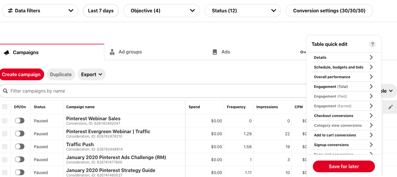 What if my Pinterest ads aren't working? How to set up and read your data