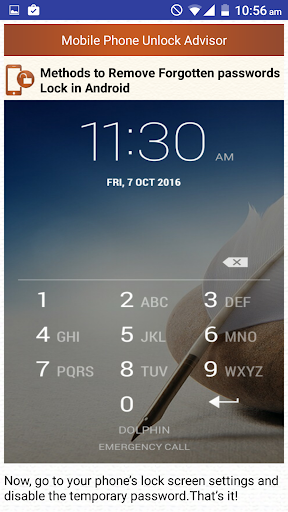 Clear Mobile Password PIN Help  screenshots 3
