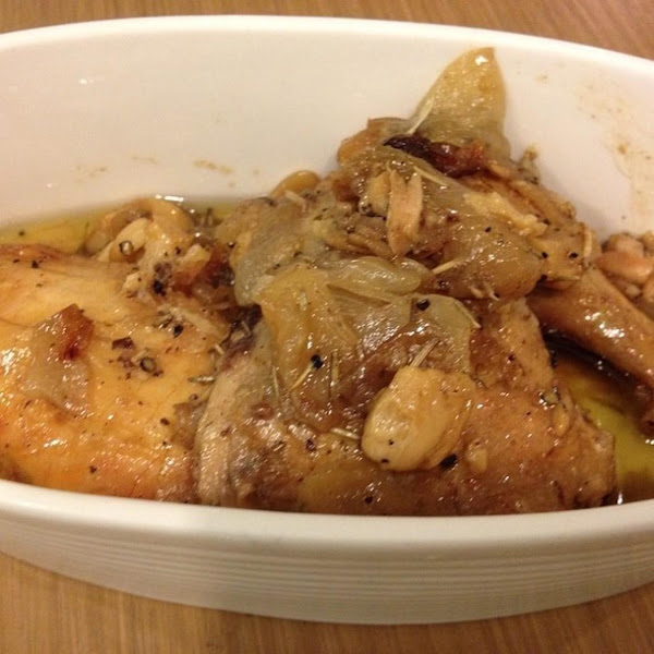 James Beard's Chicken With 40 Cloves Of Garlic Recipe