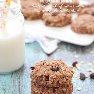 Healthy Banana Oatmeal Breakfast Cookies.