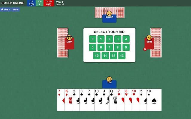 Spades card game online