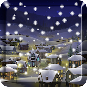 Snow Night City wallpaper PRO