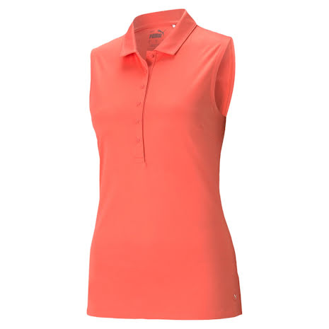 Puma Golf Rotation Sleeveless Polo Georgia Peach