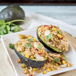 Chicken and Quinoa Stuffed Avocados