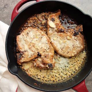 Pork Chops in Creamy Shallot Sauce.