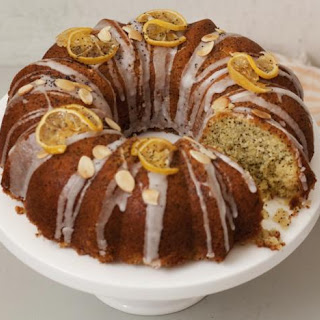 Lemon And Poppy Seed Drizzle Cake.