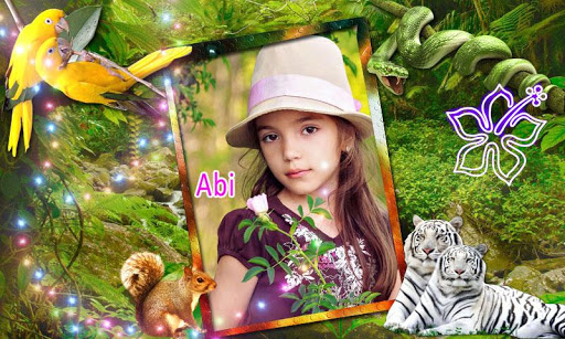 Jungle photo frame effects