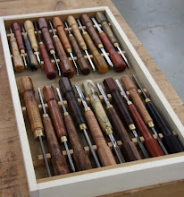 Photo: Here's a good look at his beautifully displayed assortment.