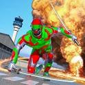 Ninja Robot Battle Superhero Games icon
