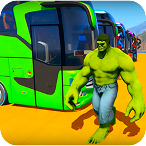 Superheroes Bus Stunts Racing (game)