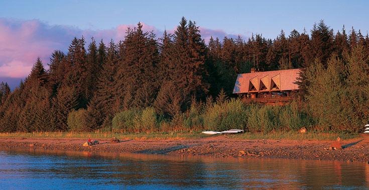 Glacier Bay Lodge at Glacier Bay National Park.