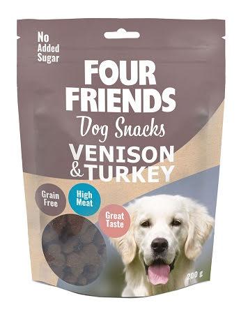 Four Friends og Snacks Venison & Turkey 200g
